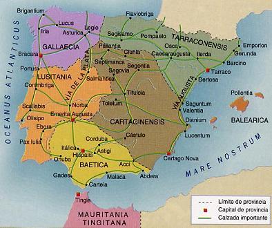 Provinces of the Hispania Romana
